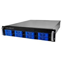 Серверный корпус 2U NR-R2008 2*400Вт 8xHot Swap SAS/SATA (ATX 10x12, int 3.5, 550mm),черный,Negorack